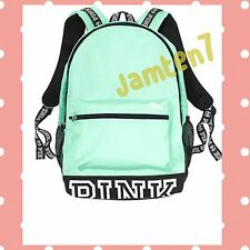 Victoria's Secret Pink Campus MINT GREEN Logo Backpack Bookbag School 2016