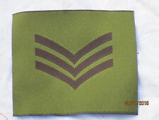 Rangabzeichen:Sergeant  , für DPM  Jacke, GB, britisch, Gr. 100 x 90 mm