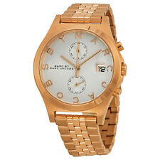 Marc by Marc Jacobs Fergus Chronograph Silver Dial Rose Gold-tone Ladies Watch
