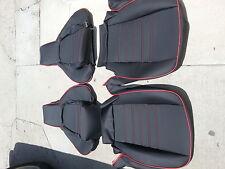 PORSCHE 944 911 951 964 968 85-94 SEAT KIT NEW UPHOLSTERY BLACK CUSTOM