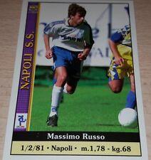 CARD CALCIATORI MUNDI CRONO 2001 NAPOLI RUSSO CALCIO FOOTBALL SOCCER ALBUM