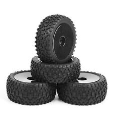 Rubber Wheel Tires Front & Rear Tyre Buggy For RC 1/10 Off Road Car 25026+27011