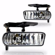 Clear Fog Light fit for 2001 2002 GMC Sierra 2500 HD (Pair)