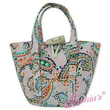 """Pink Paisley Print Tote Bag purse hand beach fit 18"""" American Girl Doll"""