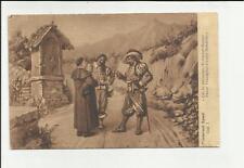 antica cartolina formato piccolo lecco i promessi sposi capitolo  I