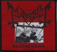 OFFICIAL LICENSED - MAYHEM - DEATHCRUSH SEW ON PATCH BLACK METAL