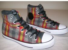 NEW CONVERSE ALL STAR CHUCK TAYLOR WOOLRICH PLAID MID SNEAKERS W 9 M 7 UNISEX