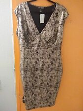 forever 21  plus dress club party banquet black and silver shiny 1X
