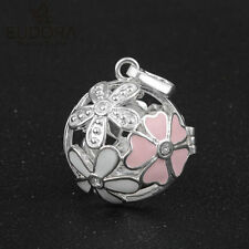 Harmony Bola Elegant Flower Silver Locket Cage fit 20mm Chime Mexican Bola Angel