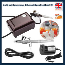 Mini AirBrush Compressor Air brush Kit 0.4mm 2cc Spray Tattoo Nail Art Paint Gun
