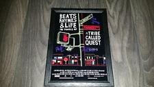"BEATS, RHYMES & LIFE A TRIBE CALLED QUEST PP SIGNED FRAMED A4 12X8"" PHOTO POSTER"