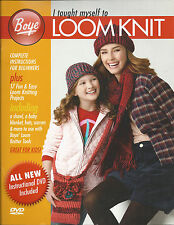 LOOM PATTERN BOOK! I TAUGHT MYSELF TO LOOM KNIT! 17  PATTERNS BOOK & DVD!