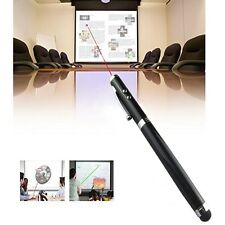 Puntero Láser Negro 4 in1 Pantalla Táctil LED antorcha Ball Pen Stylus iPhone iPad