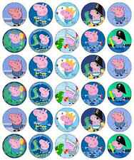 30 x Peppa Pig George Pig Cupcake Toppers Edible Wafer Paper Fairy Cake Toppers