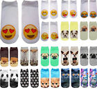 3D Printed Animal Casual Socks Cute Cat Unisex Low Cut Women Cotton Ankle Socks