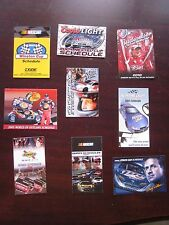 Lot of 9 Different Racing NASCAR Winston Cup Schedules Skeds Great Group