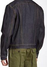 NEW Civilianaire Mens Japanese Selvedge Jean Jacket Ranch Denim 275$ Sz S Small