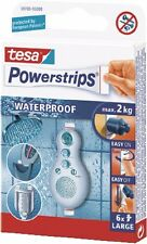Tesa powerstrips segregados waterproof large 59700, 6 piezas