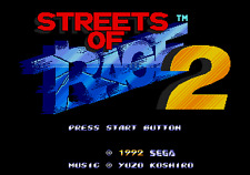 Streets Of Rage 2 - Sega Genesis Game