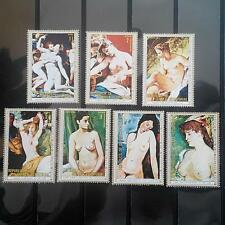 GUINEA 1973 ART Paintings Monet Boucher stamps 7 pcs MNH