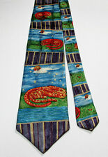 Common Spirit AT THE LAST MOMENT BESIDE YOU 100% Silk Abstract Tie Leopard