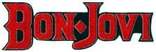 BON JOVI large logo embroidered patch