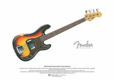 James jamerson's 1962 Fender Precision Bass art poster format a3