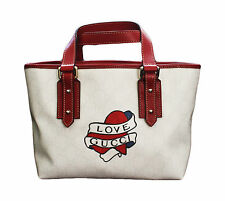 NEW GUCCI Heart Tattoo Tote Top Handle BAG HANDBAG w/Love Gucci,Cute,257249 9091