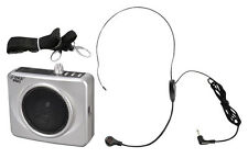 Pyle PWMA60US New Silver 50W Usb Waist Band Portable Pa System W/ Headset Mic