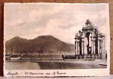 Napoli - il Vesuvio da S.Lucia [grande, b/n, viaggiata]