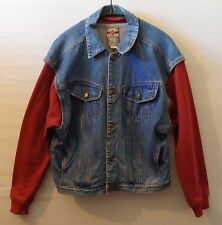 "LOONEY TUNES denim jacket UK XL US L Chest 52"" 132 cm 90s Thats All Folks"