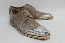 NWOT CHRISTIAN LOUBOUTIN Men's Brown Metal Toe Gareth Loafer Shoe UK11.5 EU45.5
