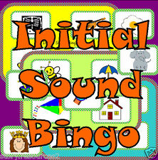 INITIAL SOUNDS PHONIC BINGO Letters and Sounds Alphabet Game Teaching Resources