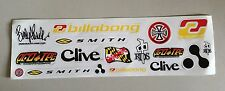 17 Skateboard Stickers: Billabong, Independent, Clive, Smith, Lasek, Protec, RDS