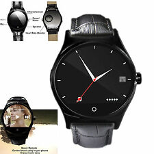 Black Heart Rate Bluetooth Smart Watch For Samsung S5 S6 S7 Note 5 4 3 Motorola