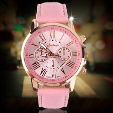 Fashion Women Ladies leather Stainless Analog Quartz Analog Wrist Watch Hot FE