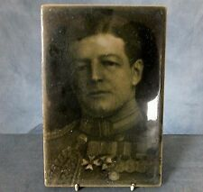 RARE Lg FRAMED WWI. TILE PLAQUE by J.H. BARRATT & Co. - ADMIRAL Sir DAVID BEATTY