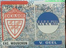 355 LOGO ECUSSON BELGIQUE EXCELSIOR MOUSCRON V.GEEL STICKER FOOTBALL 1996 PANINI