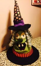 Animated Witch Dancing Musical Witch Hat Halloween Porch Greeter Window Display