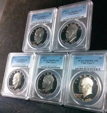 1976-S $1 TYPE TWO PCGS PR69DCAM EISENHOWER DOLLAR IKE U.S. COINS LOT OF 5 DCAMS