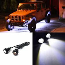 2 Pack Clear INNER FENDER WHEEL WELL LED Light Universal Custom JEEP UTV ATV