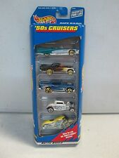 Hot Wheels 5 Car Gift Pack 50s Cruisers w 57 Chevy