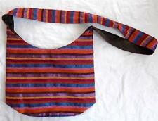 FAIR TRADE BOHO HIPPY ETHNIC FESTIVAL RAINBOW COTTON & SILK SHOULDER BAG