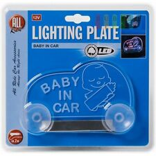 "BABY ON BOARD Light Up Glowing-illuminated-LED Window Sign for car-truck 4""x4"""