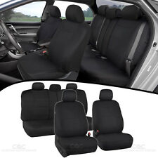 Black Car Seat Covers Set Split Bench Option 5 Headrests