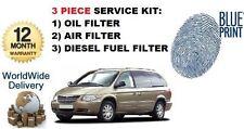 Para Chrysler Grand voyger 2,5 dt 2.8 Dt 2000-2007 Aceite Aire Filtros De Combustible Kit De Servicio