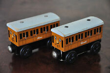 THOMAS Tank Engine Wooden Railway Carriages - ANNIE or CLARABEL - Good