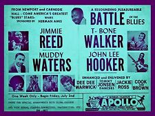 "Muddy Waters / John Lee Hooker Apollo 16"" x 12"" Photo Repro Concert Poster"