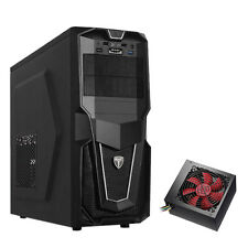 AvP STORM P28 BLACK ATX GAMING TOWER CASE WITH 650W PSU INSTALLED & USB 3.0