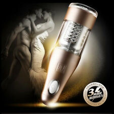 Automatic Electric Male Masturbators Pussy Cup Real Men Sex Cup 3D Stroker Toy